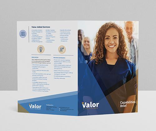 Valor Healthcare Capabilities Statement Design
